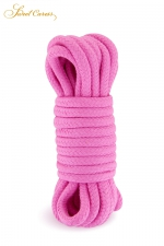 Corde de bondage rose 5m - Sweet Caress : Corde de shibari rose, spécialement fabriquée pour la pratique des jeux de bondage et ligoter votre partenaire.