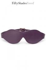 Bandeau cuir - Fifty Shades Freed : Luxueux bandeau pour les yeux en cuir souple et matelassé, par Fifty Shades of Grey.