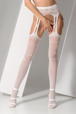 Collants ouverts S020 - Blanc