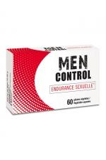 Men Control (60 gélules) : Complément alimentaire à base de plantes, de vitamines et de minéraux, permettant de maintenir l'endurance sexuelle.
