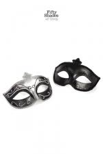 Lot 2 masques vénitiens - Fifty Shades of Grey : Mask on, deux masques derrière lesquels s'abriter pour donner libre court à vos fantasmes.