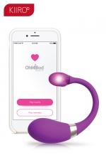 Oeuf vibrant connecté Esca 2 - Kiiroo : Oeuf vibrant Bluetooth connecté, pour vos jeux coquins en solo ou à deux, idéal pour les relations amoureuses longue distance.